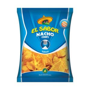 el sabor nacho chips salted